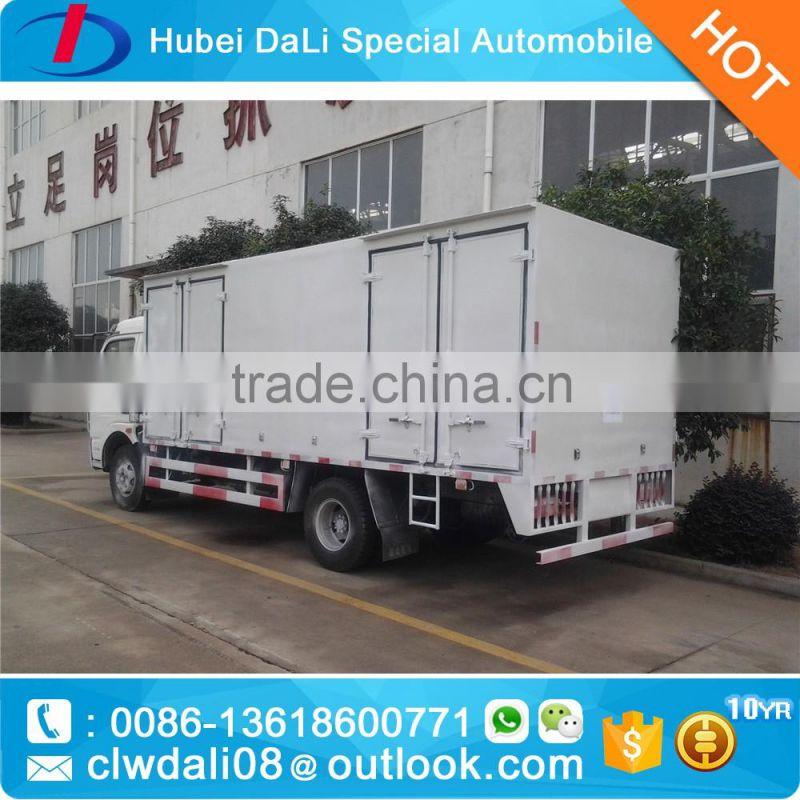 5 tons Forland 95hp diesel fuel medium-duty cargo delivery trucks Box for sale /dry cargo box