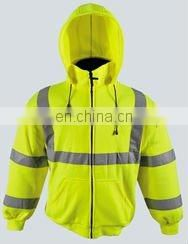 Work clothing High Visibility hooded sweatshirts