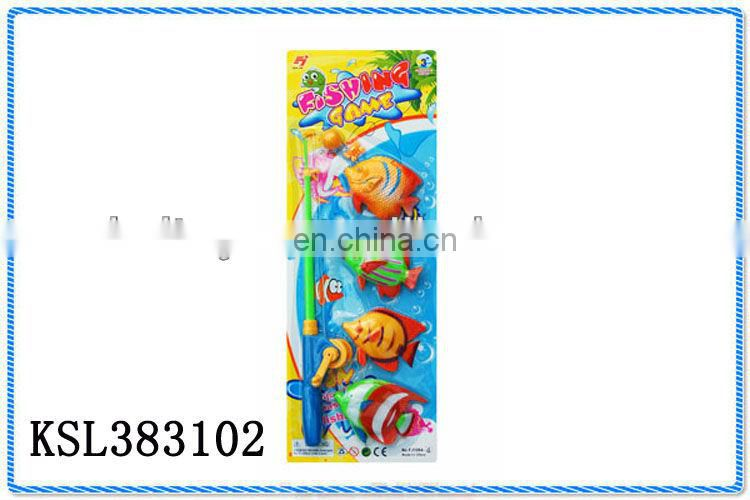 kids magnetic plastic cheap wind up fishing set