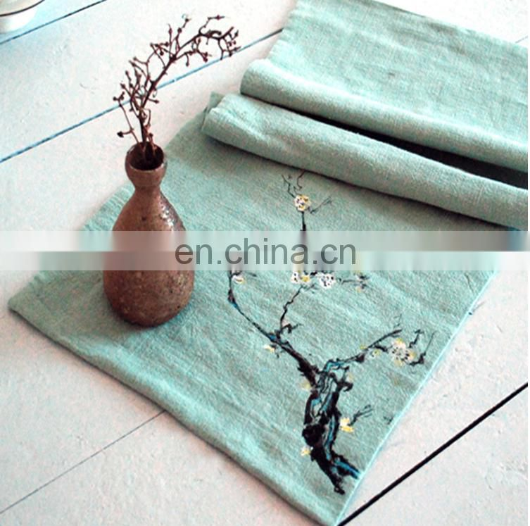 Hot sale hand painted towels 100% cotton tea towels hand made 25*60cm 70g