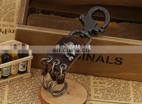Wholesale Latest high quality genuine leather keychain