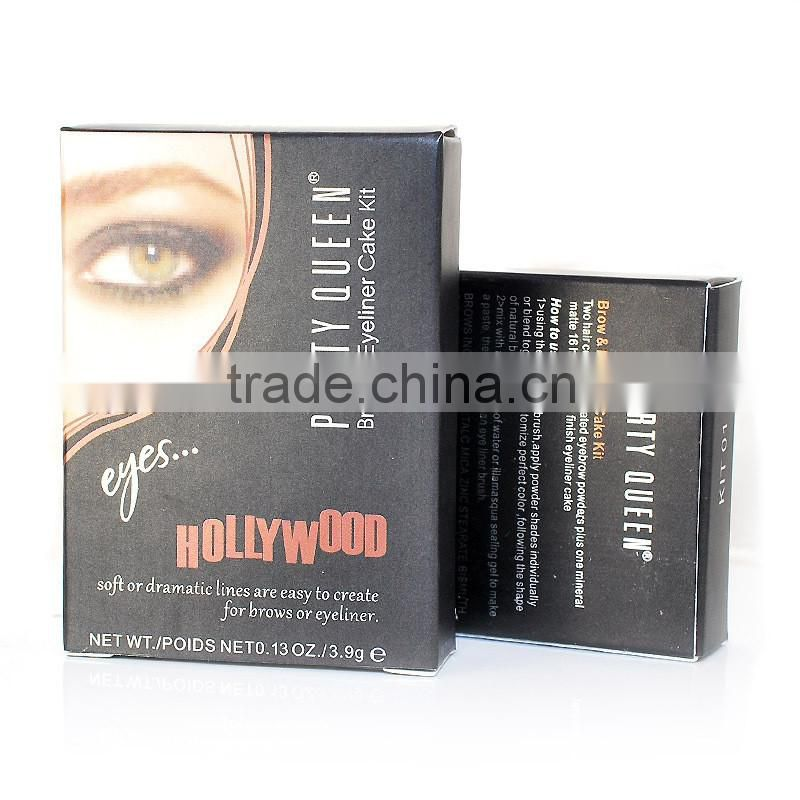 Party Queen Hollywood brow powder eyeliner cake kit