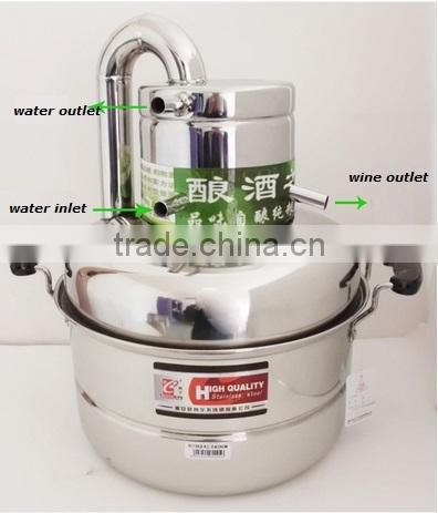 High Quality! Household Stainless Steel 8L Home Alcohol Distiller With Thermometer Spirits(Alcohol) Distillation Boiler