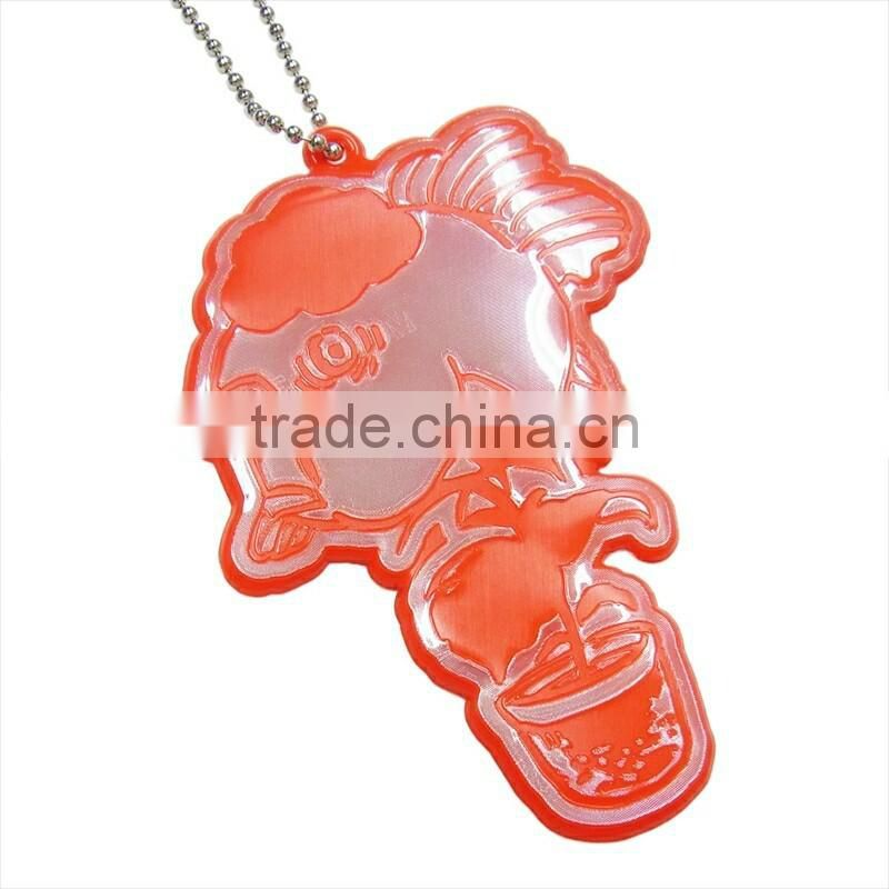 custom shaped soft pvc keychain reflective pvc keychain