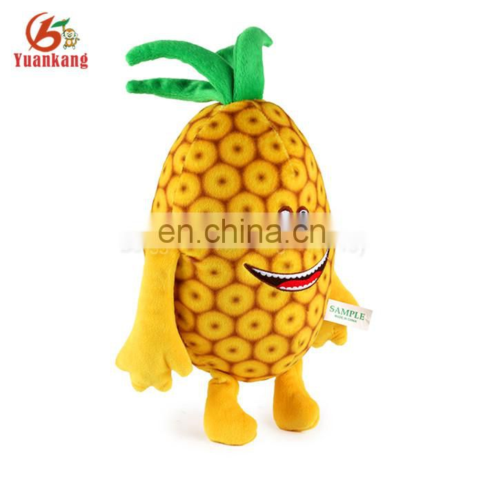 SA8000 audit factory plush fruit soft pineapple toy