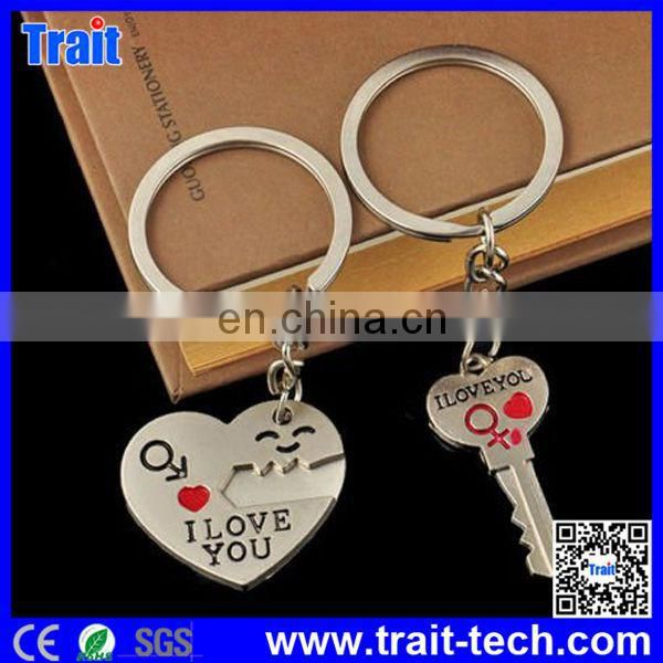 "Couple Keychain Keyring ""I Love You"" Heart"