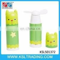 Summer mini cartoon bear fan toy three style mixs