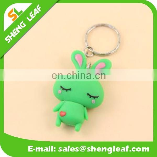 customized rubber usb flash drive with keychain