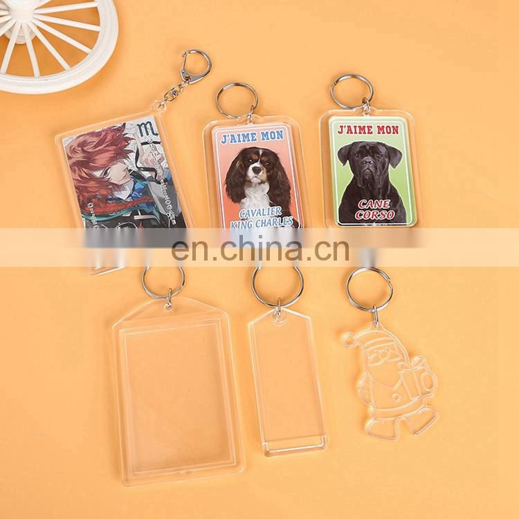 Wholesale Cheap Acrylic Photo Frame keychain