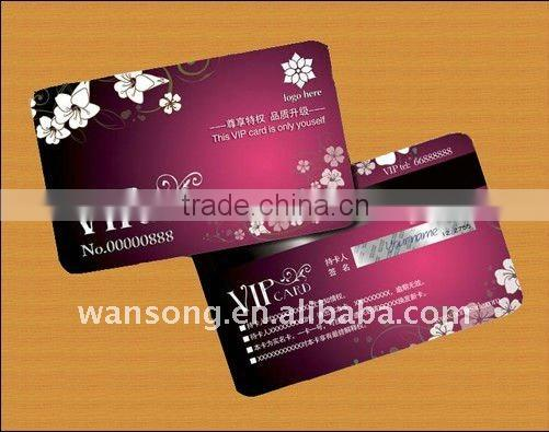 100% factory direct manufacture fashionable design plastic gift card, luxury business card