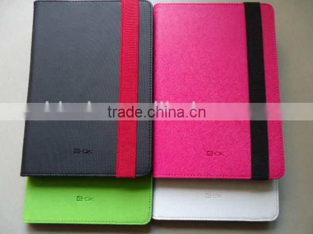 "Book Style Elastic PU Flip Stand Case For all 10"" tablet ipad 4 ipad air Samsung Tab"