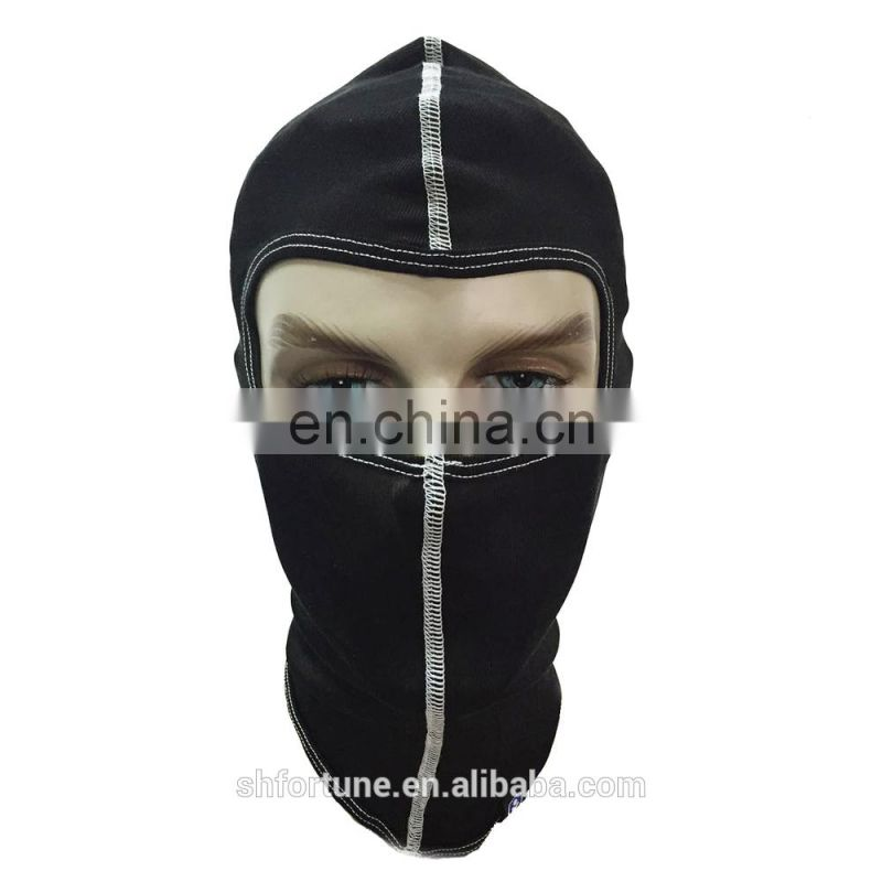 Men's skiing 100% silk balaclava, one hole