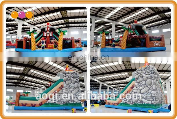 2015 AOQI new design hot exciting treasure hunt tour inflatable fun city