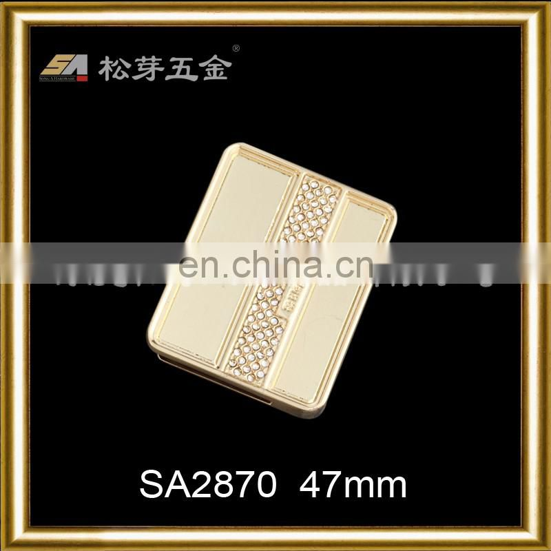 SA2870 Hot customized metal logo label charm plate for handbag decoration