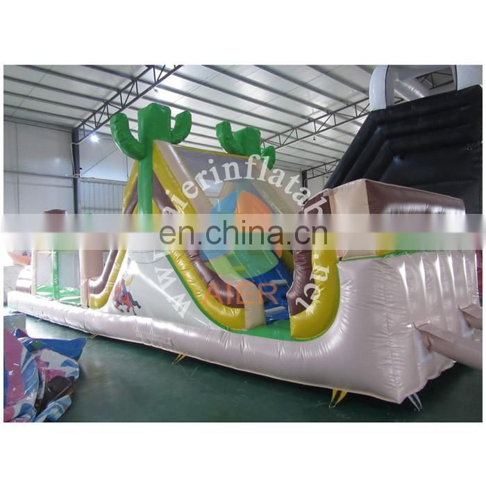 Boy Inflatables Obstacle Course Game