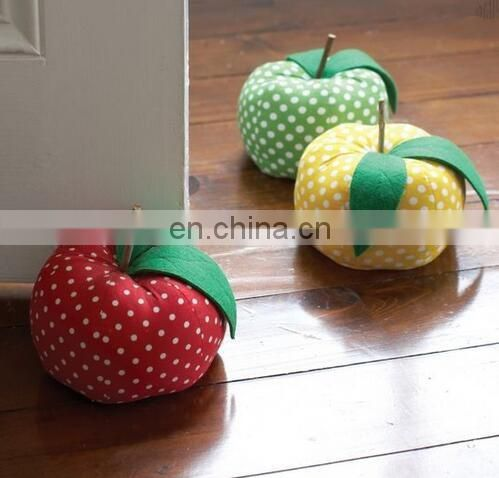 Emoji pillow Cartoon pillow ,Apple Door Stoppers apple cushion Simple, DIY, Sewing Projects for Baby