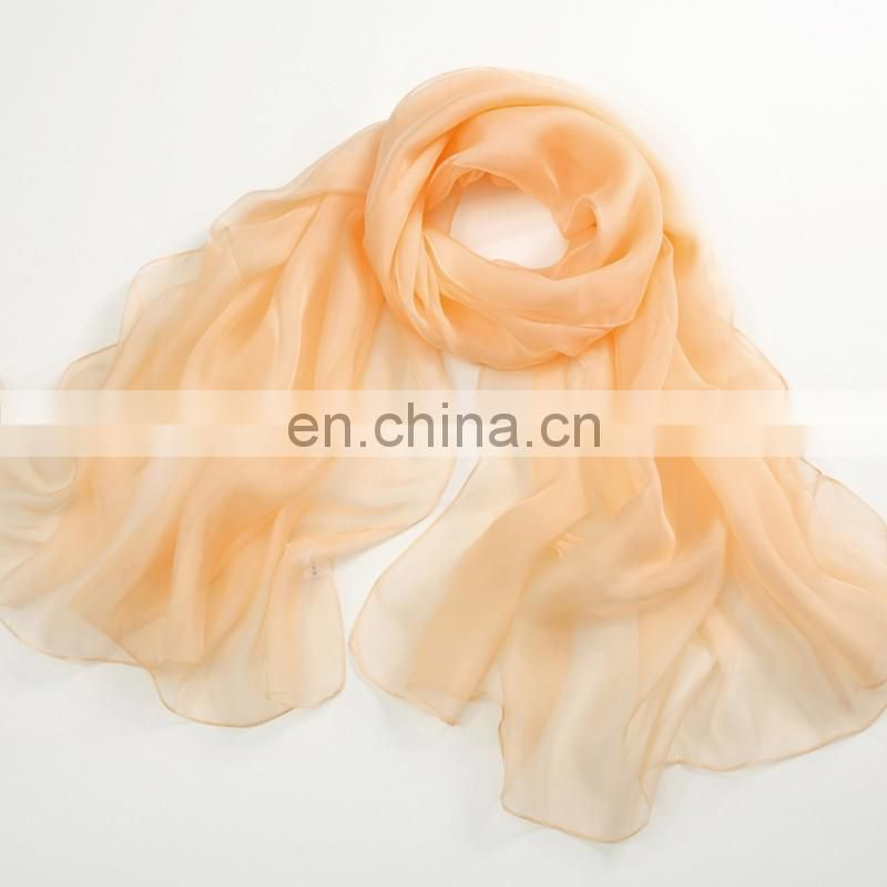 Promotional products pure silk scarf women long scarf shawl green