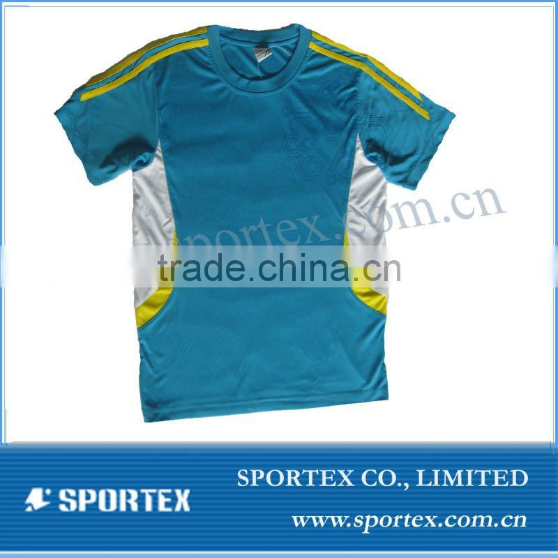 Men's 100% polyester dry fit shirts wholesale / polyester dry fit shirts for men / OEM t-shirt
