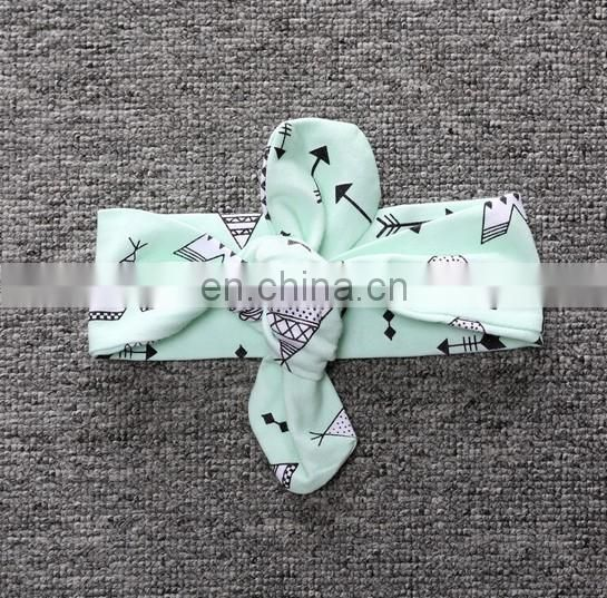 Baby Cotton Headbands Bunny Baby Headband Summer Headwrap Bandanna Head Wrap For Baby First Birthday Gift