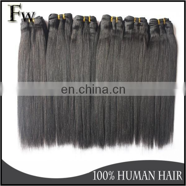 Straight Human Hair Extension Top Quality Popular Yaki Perm Straight Braiding Hair