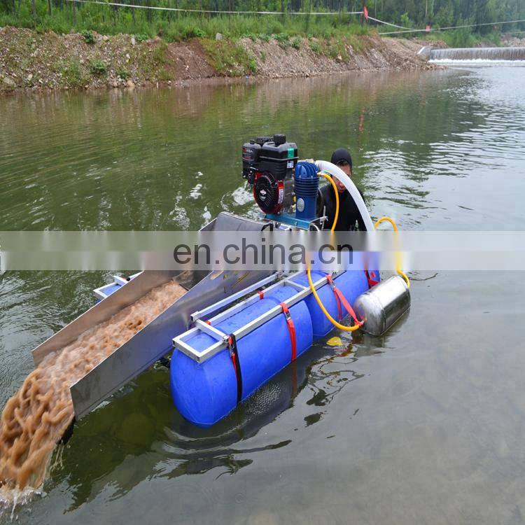 China cheap price dredge booster pump mini portable gold mining machine	used boats for sale Image
