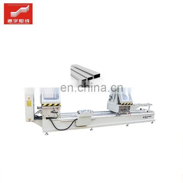 Doublehead aluminum cutting saw machine double and triple glass making profile coating production line keder best price Image