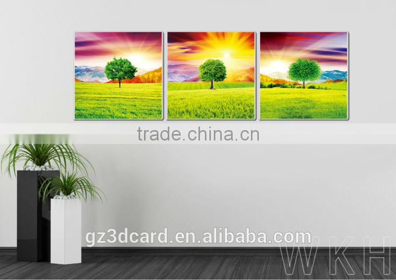 New Material PET 1.5mm No Frame Picture Hot sale golden abstract 3d picture for room
