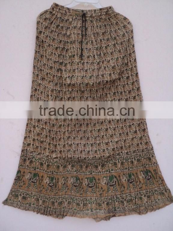 Broomstick cotton women wear long maxi skirts & gown in summer wear indian beautiful skirts