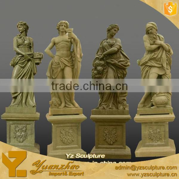 Sandstone Sculpture of Four Seasons Goddess for garden decoration