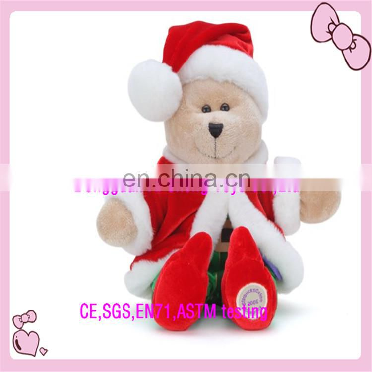 OEM plush stuffed animal plush chirstmas finger toy