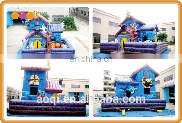 AOQI Magic Halloween House /much fun inflatable fun city china