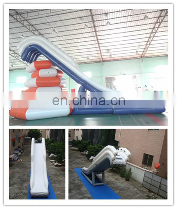 New Inflatable Water Curved Yachts Slides / Boat Slide For Sale