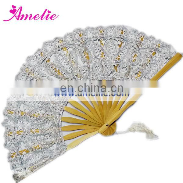 20cm Luxuriant orange lace fan wedding gift