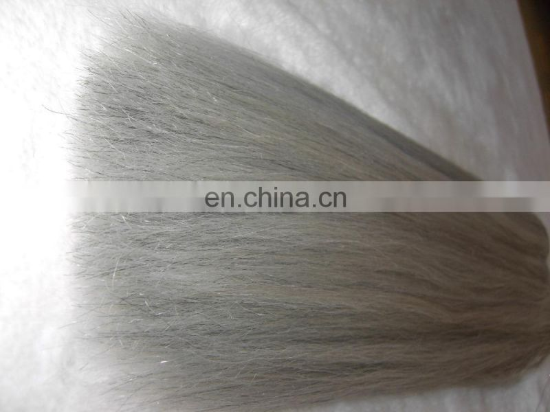 Grade 7A Raw Unprocessed 100 Human Hair Remy Gray Hair Weave Silver Brazilian Human Hair Extensions