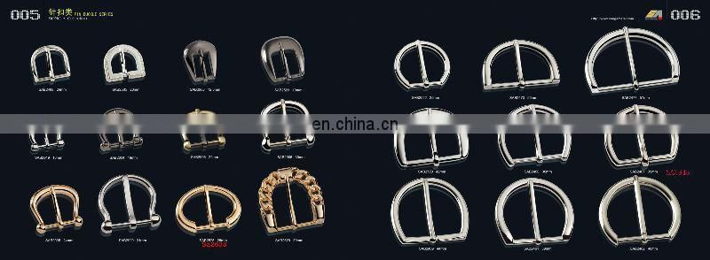 Song A Metal shining gold plating zinc alloy buckle leather half circle pin buckle