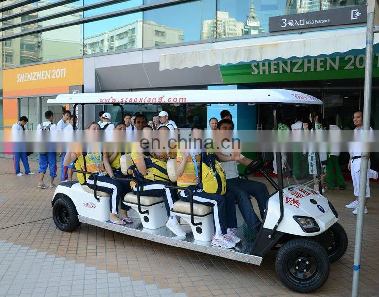 8 seater electric airport shuttle bus 48v 4400w motor and 25km/h speed