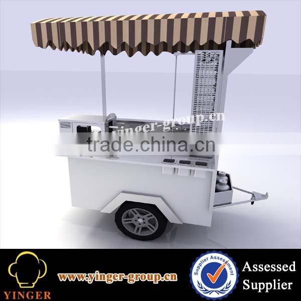 stainless steel outdoor kurtos kalacs chimney cake oven machine fast food kiosk