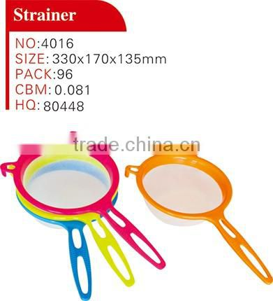 2016 hot sale wholesale eco friendly kitchen sink stainless steel plastic y shape kitchen strainer with plastic handle