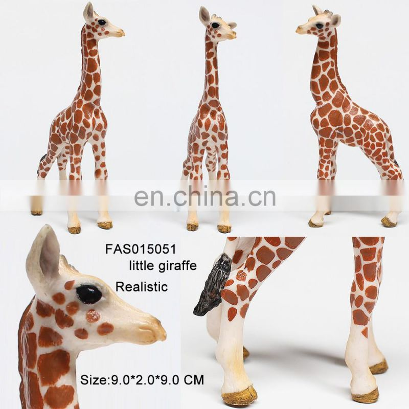 2017 new giraffe model plastic wild animal toy