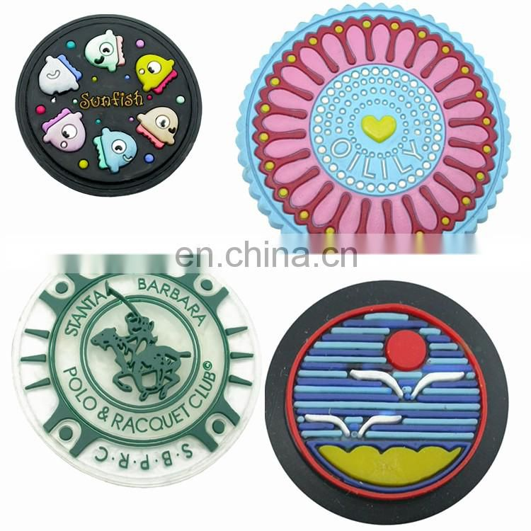Round OEM clothing pvc rubber badge label