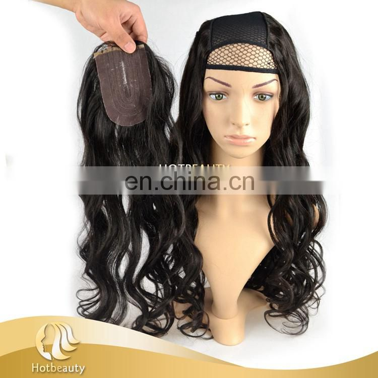 2015 New Style Popular Removable U-part Human Hair Wig with Closure
