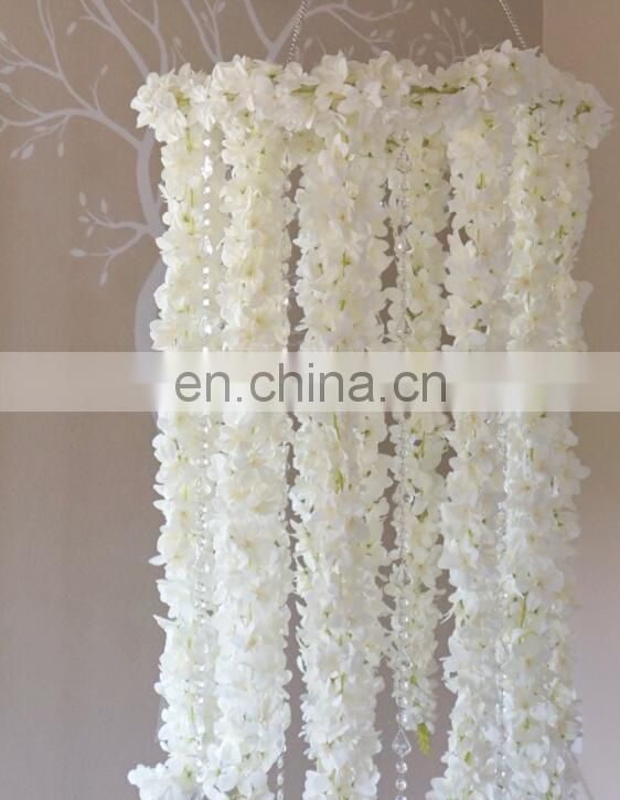 2 FEET X 5.5 FEET FLORAL CHANDELIER WITH CRYSTAL STRANDS