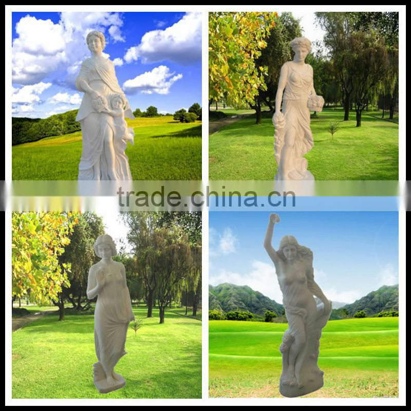 Life-Size Sandstone Carved Nude Man Sculpture