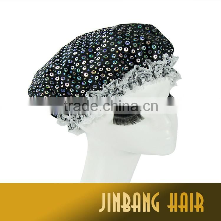 New Premium Hair bonnet Cap Custom Good Hair Salon Promotion Gift Chinese Traditional Print Silk Satin Lace Bonnet