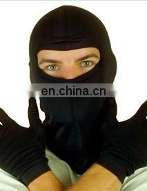 winter black skiing 100% silk balaclava