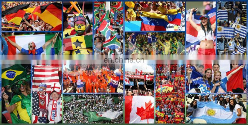 2016 Euro cup all country polyester printed all size shaking hand flag