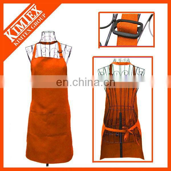 Cheap colorful cotton textile apron with pantone color for kitchen
