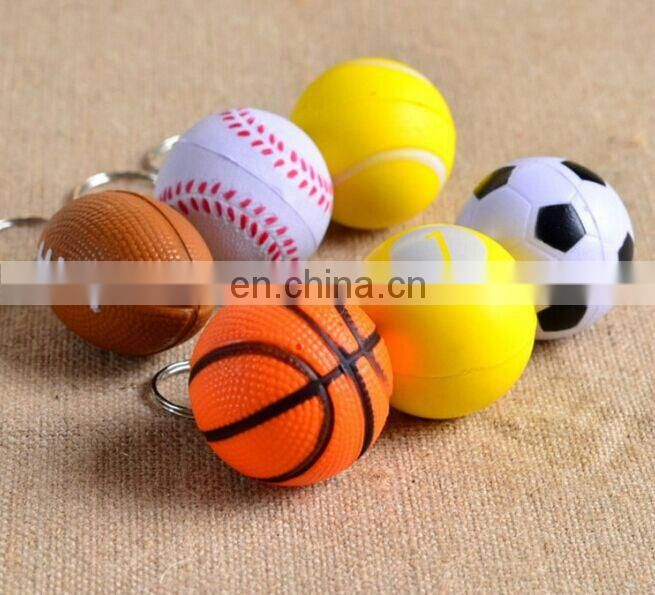 Hot 6.3cm PU foam Stress foam toy soccer balls sponge neon color eva balls