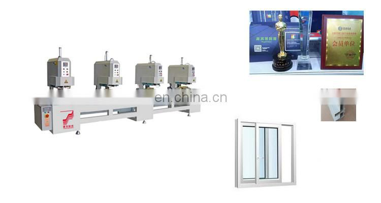 One two three four - head seamless welding machine Wooden Frame Fixed Glass Windows Double Casement supply