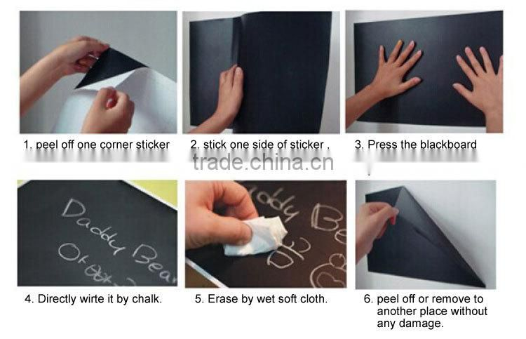 Kinds of home decor stickers blackboard wall sticker decoration
